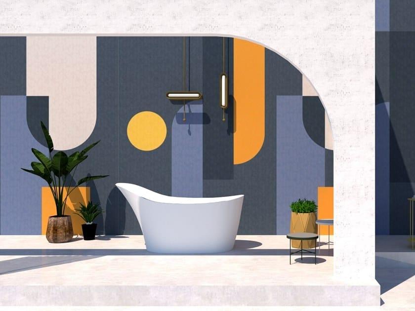 Wall tiles / wallpaper COMPOSITION BLUE by Officinarkitettura®