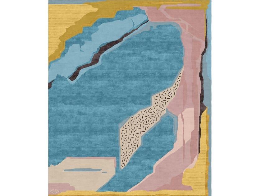 Handmade rectangular rug COMPOSITION I.I by Tapis Rouge