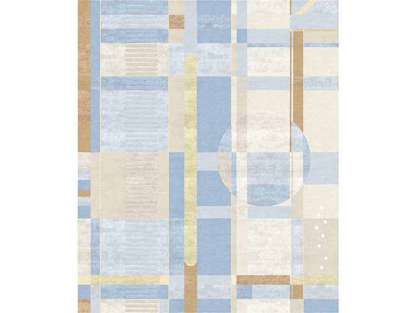 Handmade rectangular rug COMPOSITION IX by Tapis Rouge
