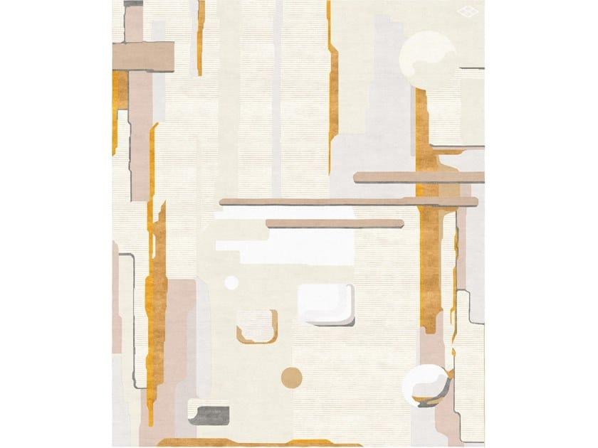 Handmade rectangular rug COMPOSITION V by Tapis Rouge