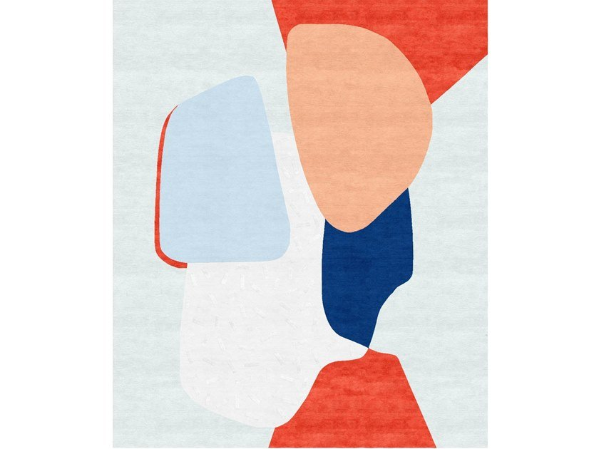 Handmade rectangular rug COMPOSITION X by Tapis Rouge