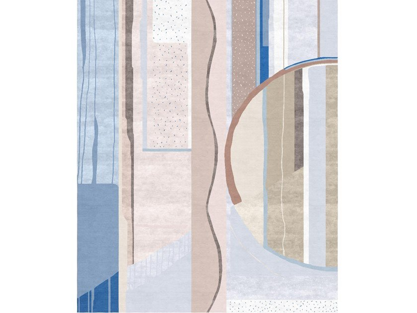 Handmade rectangular rug COMPOSITION XI.I by Tapis Rouge