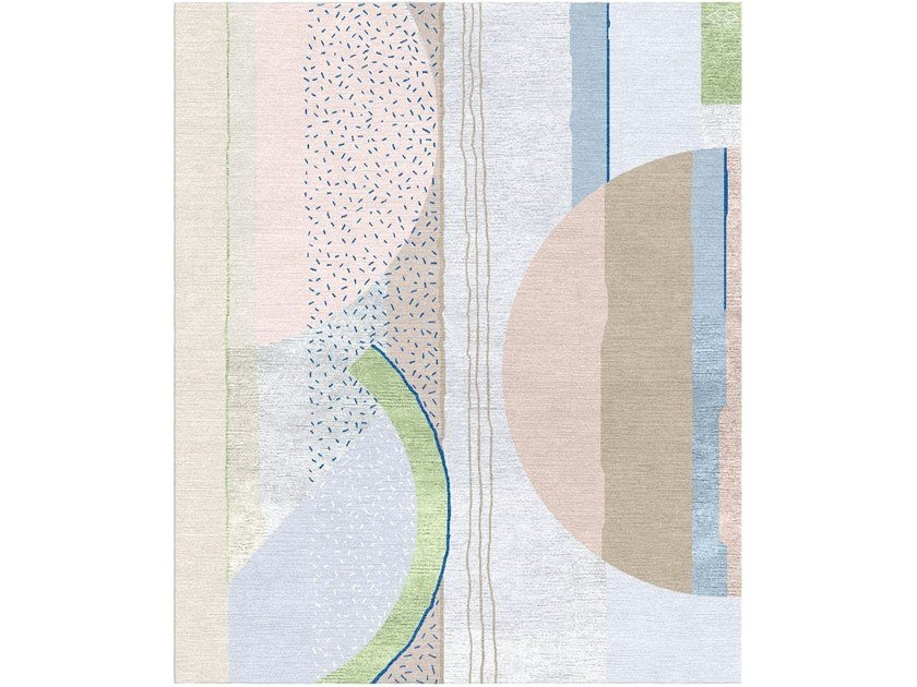 Handmade rectangular rug COMPOSITION XI.II by Tapis Rouge