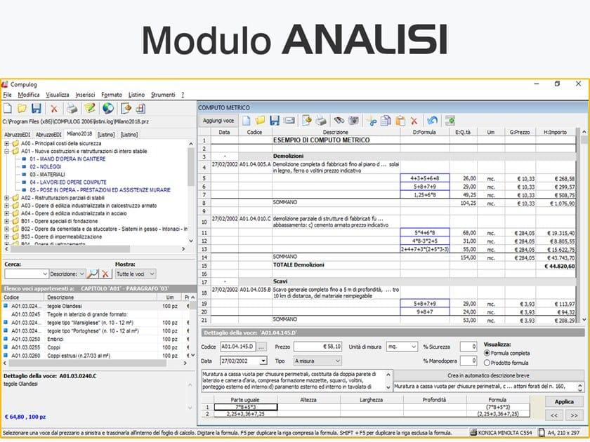Gestione preventivi e offerte COMPULOG - Modulo ANALISI - LOGICAL SOFT