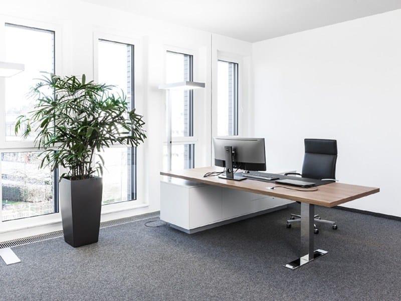 Height-adjustable rectangular office desk .CON_AIR1 by Spiegels