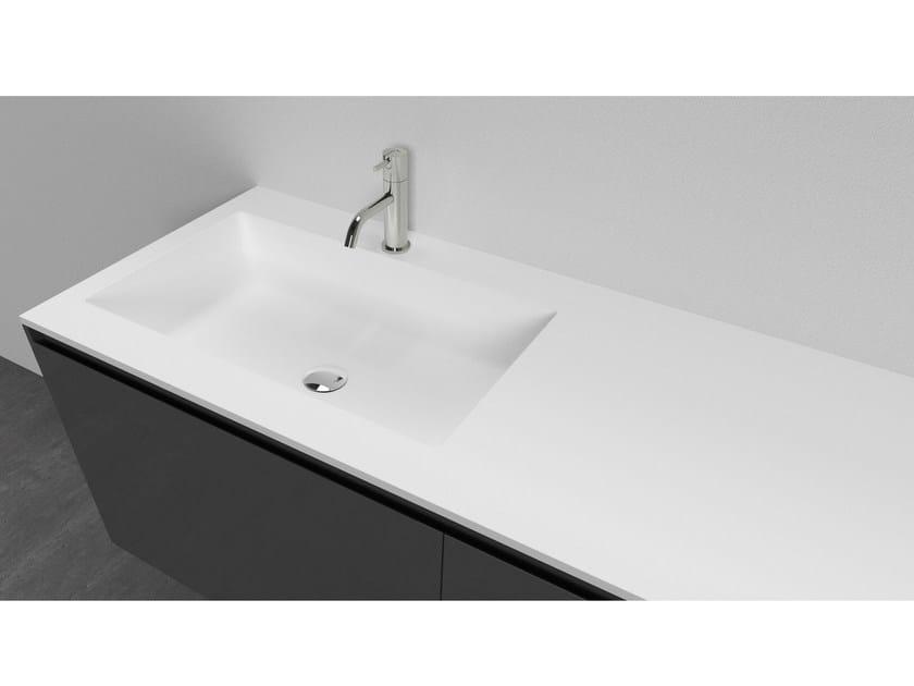 Cristalplant® washbasin with integrated countertop CONCA by Antonio Lupi Design