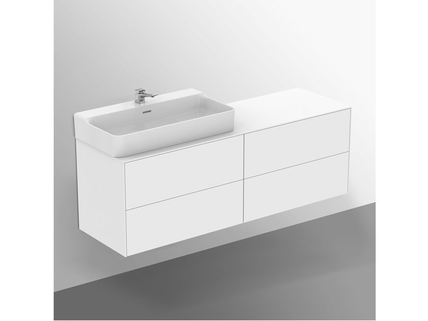 Mobile lavabo laccato sospeso con cassetti CONCA - T3989Y1 by Ideal Standard