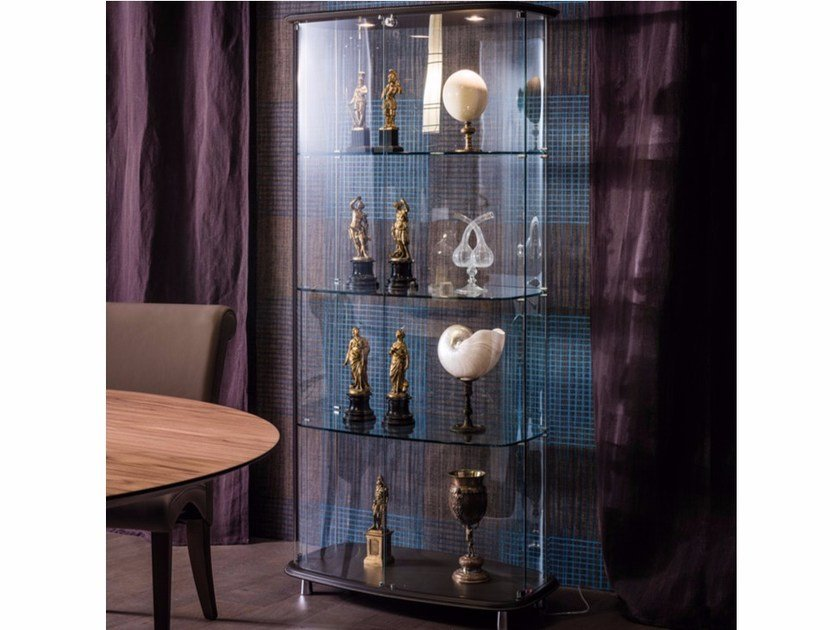 Crystal display cabinet with integrated lighting CONCERTO by Cattelan Italia