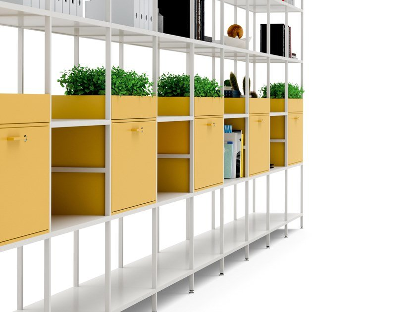 Modular steel office storage unit CONCERTO | Modular office storage unit by Bralco