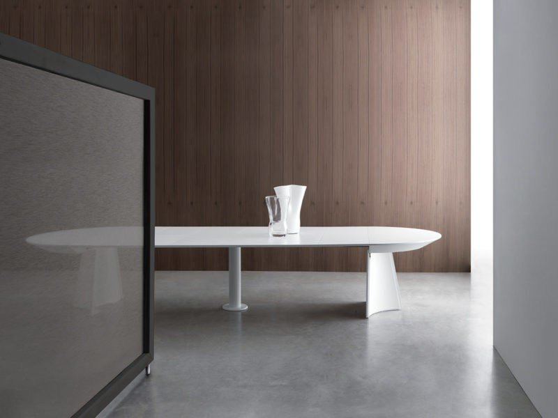 Tavolo allungabile rotondo in legno CONCERTO - Bauline