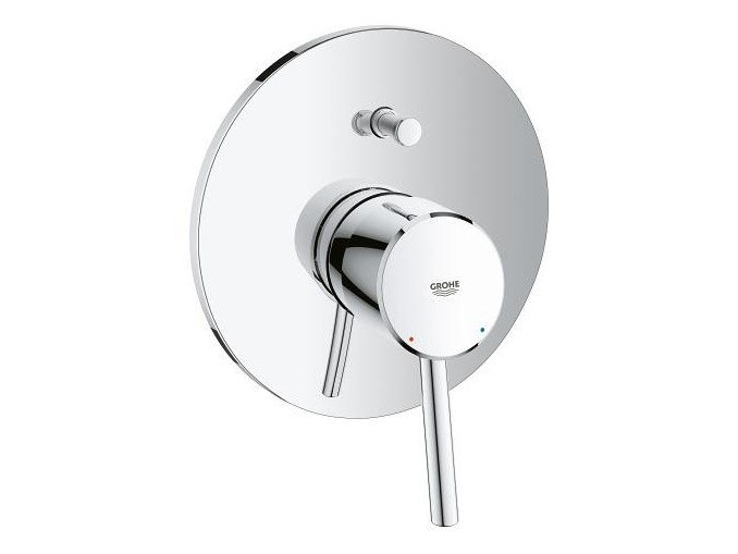 Wall-mounted single handle bathtub / shower mixer CONCETTO | 1 hole bathtub mixer by Grohe