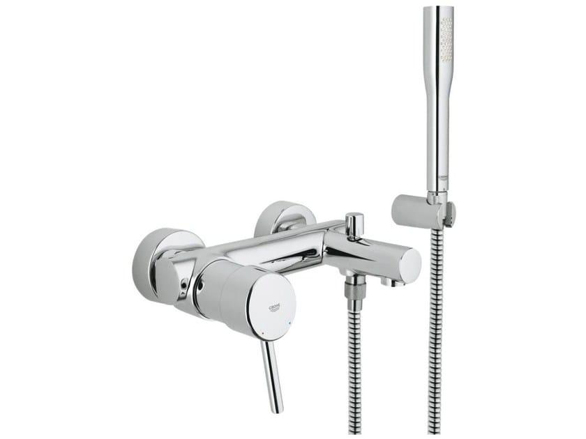 2 hole shower / bathtub mixer with hand shower CONCETTO | Shower mixer with hand shower by Grohe