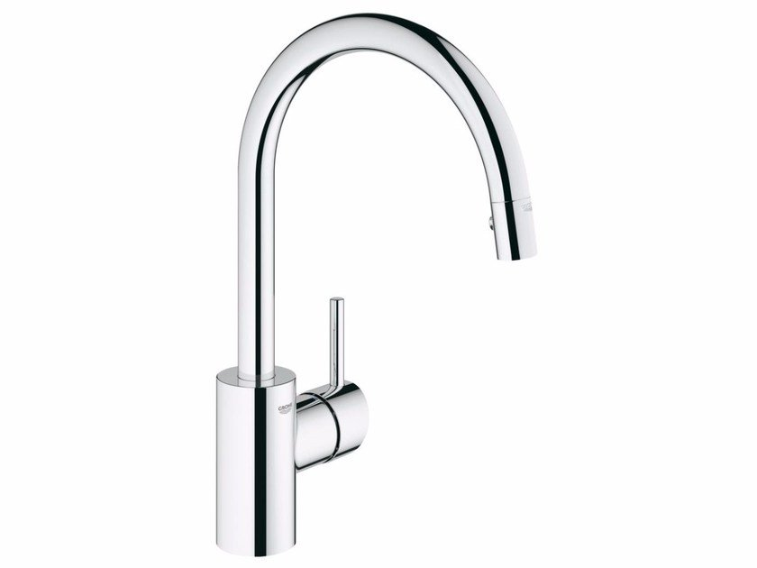 Countertop 1 hole kitchen mixer tap with swivel spout CONCETTO 31483001 | Kitchen mixer tap by Grohe