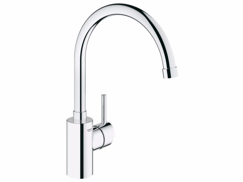 Countertop 1 hole kitchen mixer tap with flow limiter CONCETTO 32661001 | Kitchen mixer tap with swivel spout by Grohe
