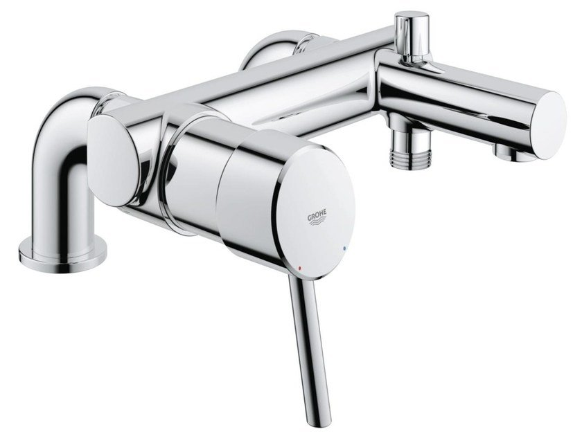 2 hole single handle bathtub / shower mixer with diverter CONCETTO | Bathtub mixer by Grohe