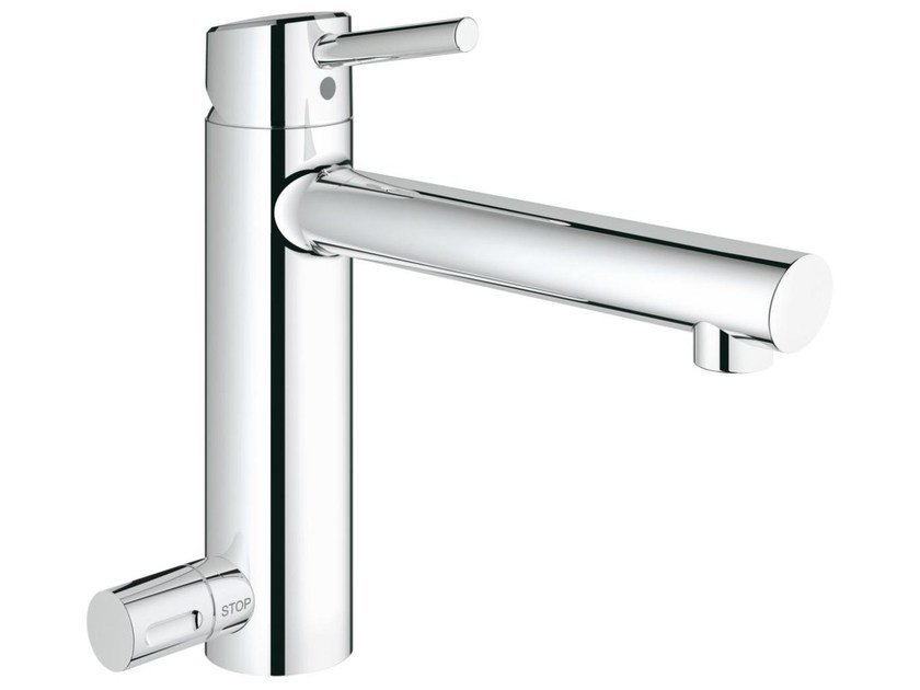 Countertop 1 hole kitchen mixer tap with swivel spout CONCETTO 31209001 | Kitchen mixer tap with dishwasher connection by Grohe