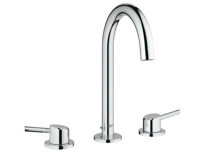 3 hole countertop washbasin tap with individual rosettes CONCETTO SIZE L | 3 hole washbasin tap by Grohe