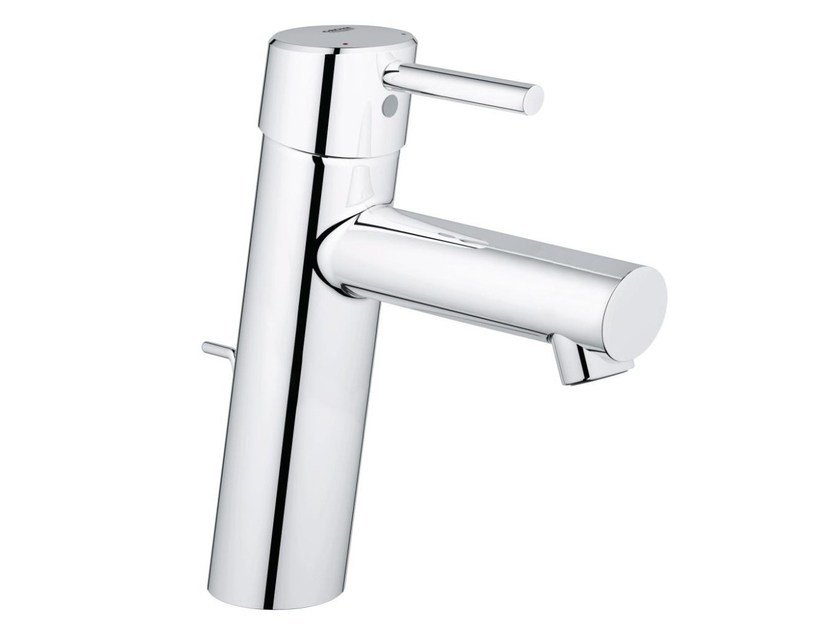 Countertop single handle washbasin mixer with temperature limiter CONCETTO SIZE M | Washbasin mixer with pop up waste by Grohe