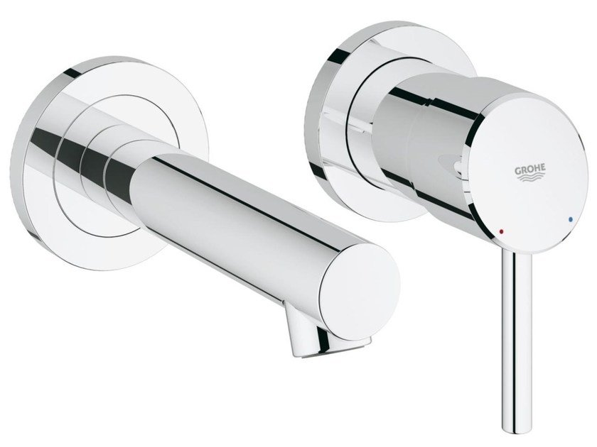 2 hole single handle washbasin mixer CONCETTO SIZE S | Wall-mounted washbasin mixer by Grohe