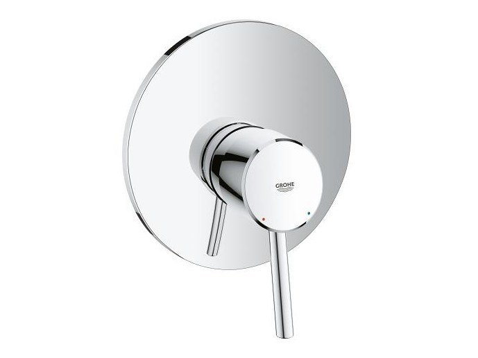 Single handle shower mixer with plate CONCETTO | Shower mixer by Grohe