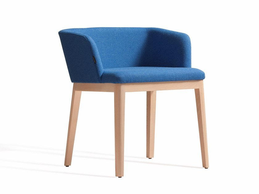 Upholstered fabric chair with armrests CONCORD 521BM by Capdell