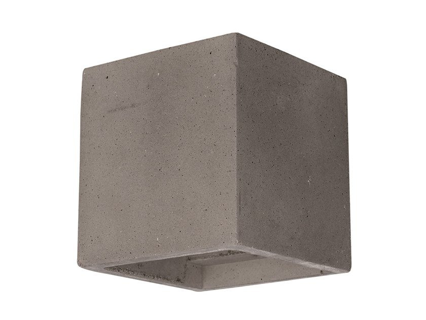 Direct-indirect light cement wall light CONCRETE 1 by Terzo Light