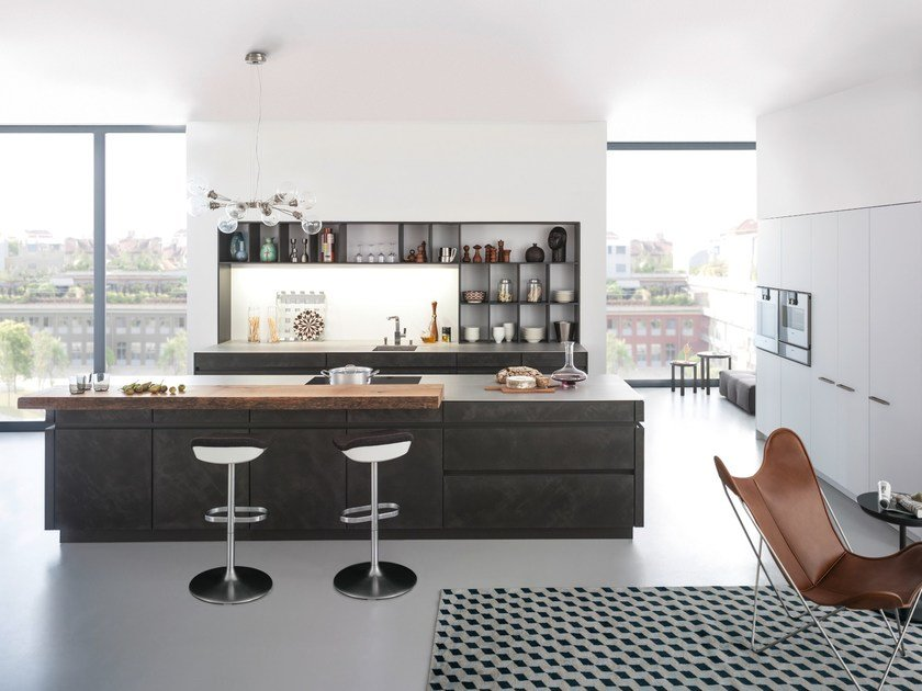 Kitchen with island CONCRETE-A By LEICHT