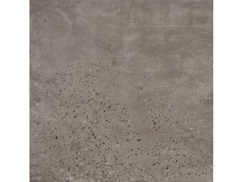 Porcelain stoneware flooring with concrete effect CONCRETE DARK GREY by Ceramica Fioranese