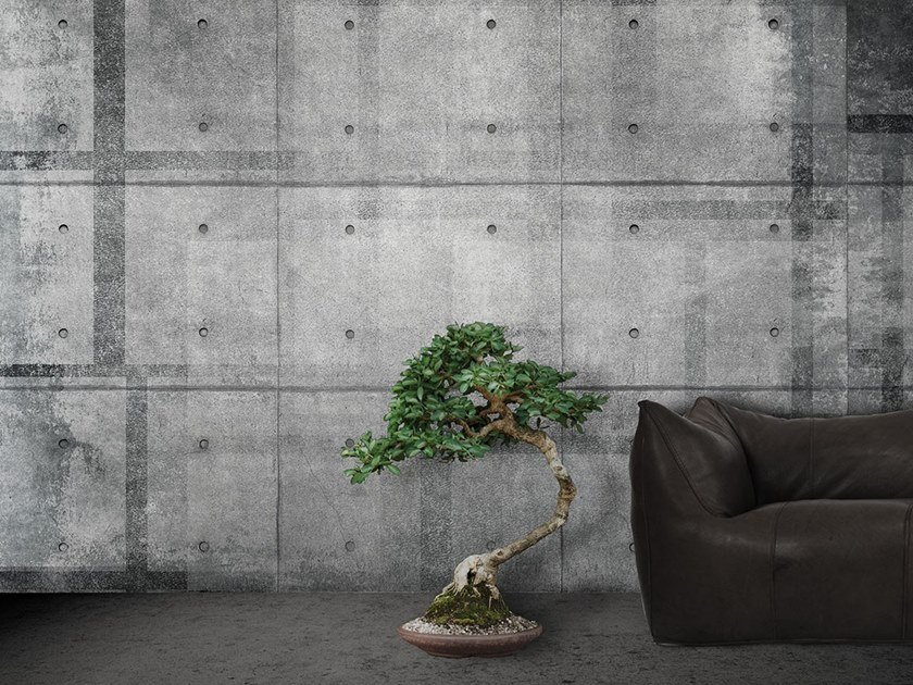 Vinyl or fyber glass wallpaper CONCRETE SLAB by N.O.W. Edizioni