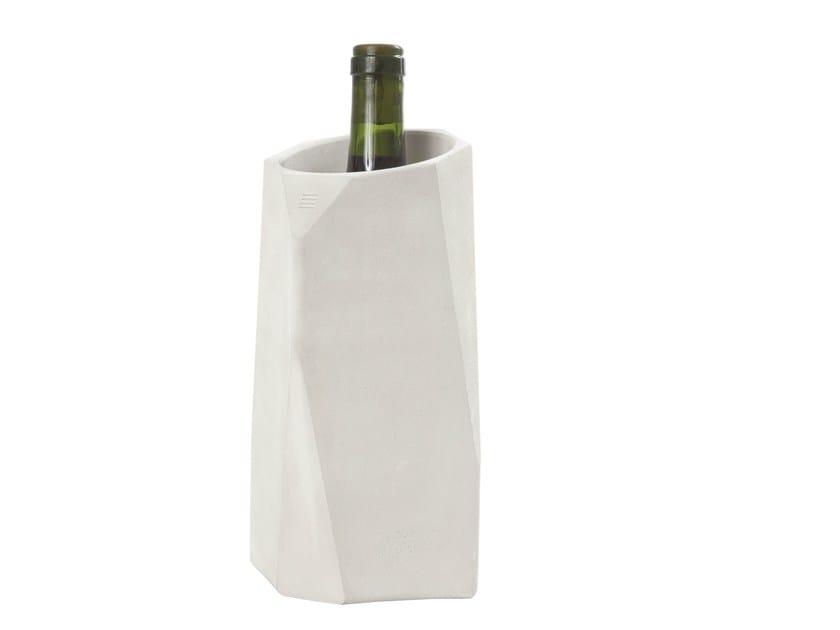Concrete isotherm bottle container CONCRETE WINE COOLER by Specimen Editions