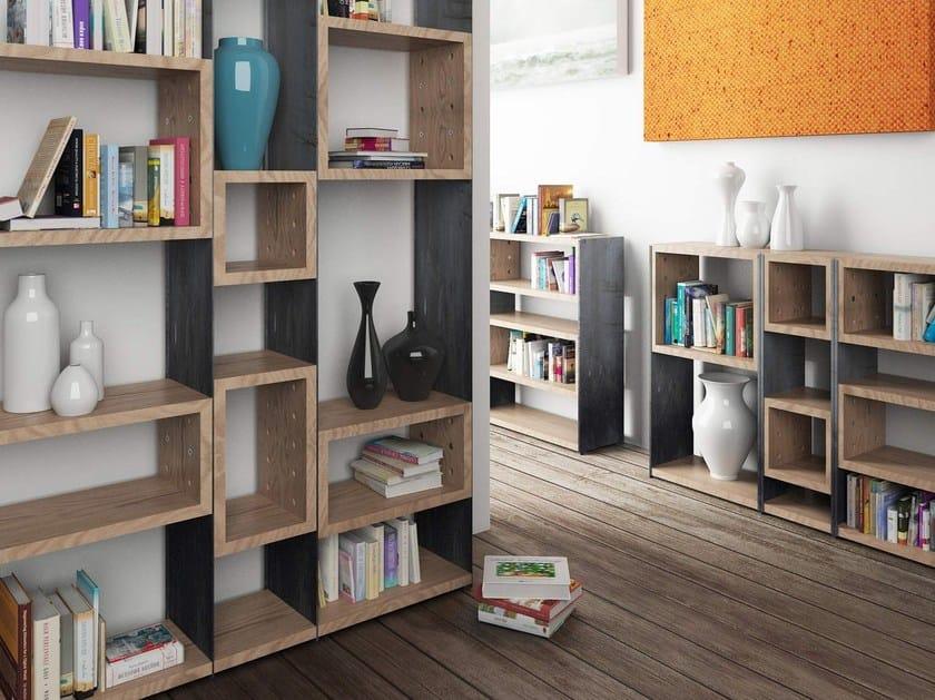 Open modular bookcase CONCRETE by ZAVA