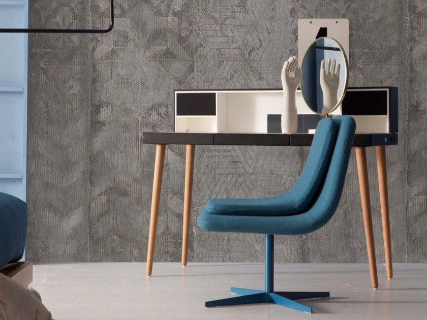 Panoramic wallpaper with concrete effect CONCRETO by Inkiostro Bianco