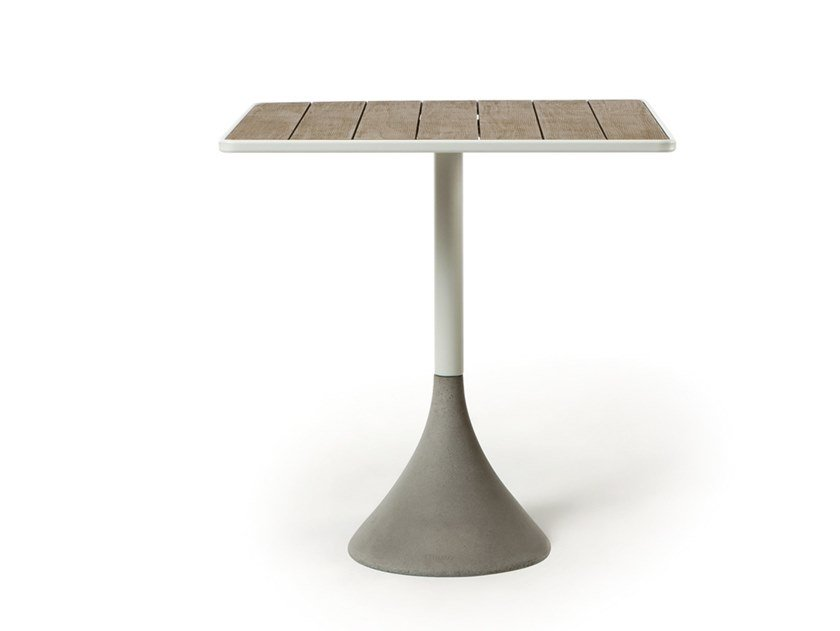 Square garden table CONCRETO | Square table by Ethimo