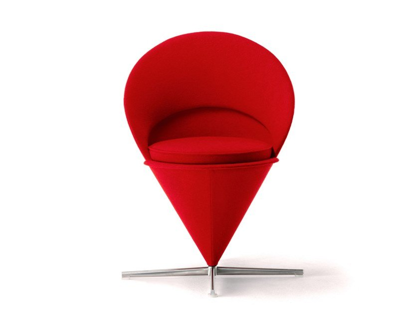 Upholstered fabric chair CONE CHAIR by Vitra