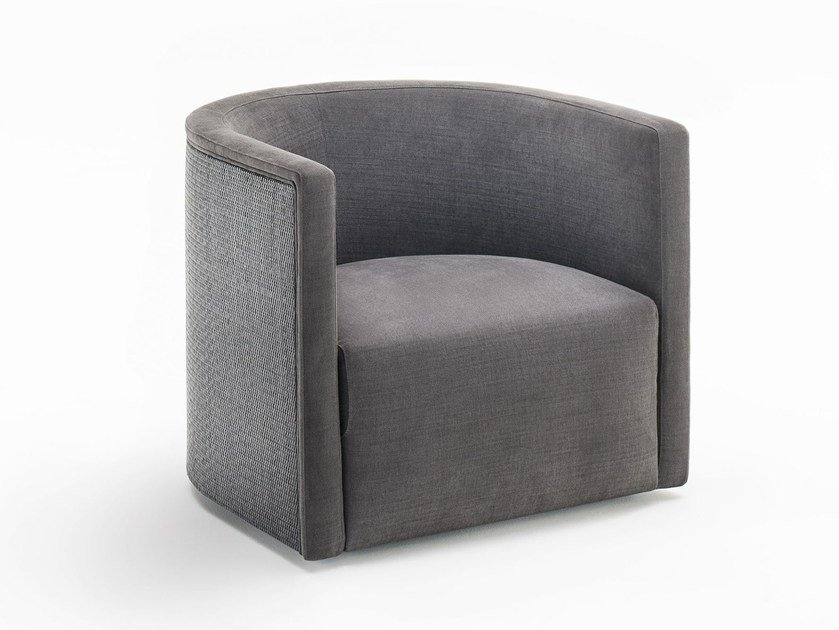 Fabric armchair with armrests CONFIDENT RATTAN by Living Divani