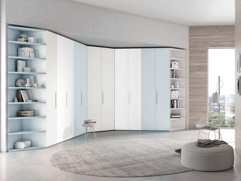 Wardrobe with hinged doors CONFIGURATION 386 by TUMIDEI