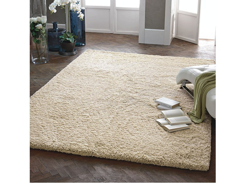 Solid-color rectangular microfiber rug CONFORT by Adriani e Rossi edizioni