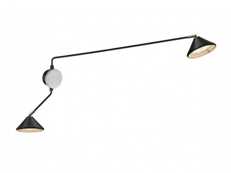 LED aluminium wall lamp with dimmer CONIC DUO by Seyvaa