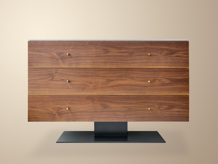 new concept e301a 5a6fa Wood veneer chest of drawers CONNERY By IVAR London
