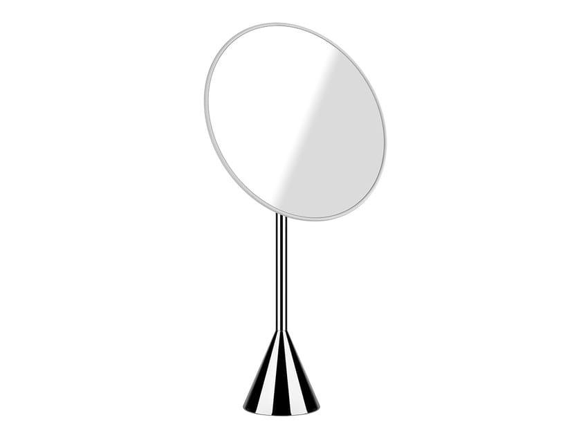 Round countertop shaving mirror CONO ACCESSORI 45588 by Gessi