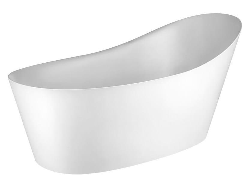 Freestanding Cristalplant® bathtub CONO BATH 45925 by Gessi