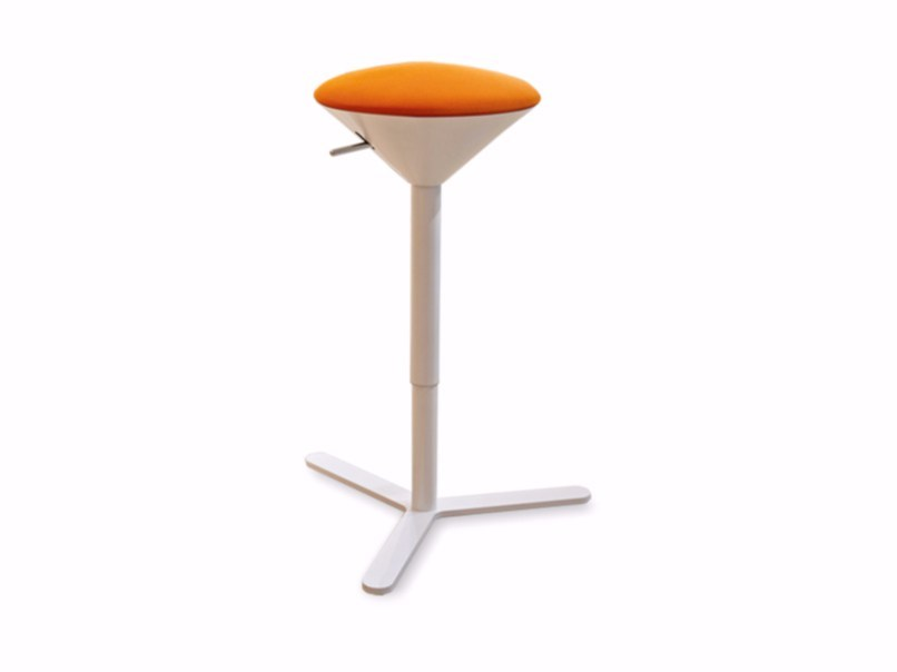 Height-adjustable stool with integrated cushion CONO by ESTEL GROUP