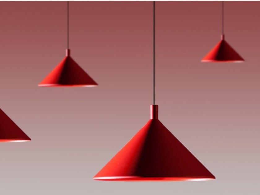 Direct light aluminium pendant lamp CONO by Martinelli Luce