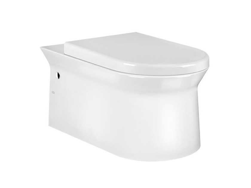 Wall-hung ceramic toilet CONO SANITARY 45933 by Gessi