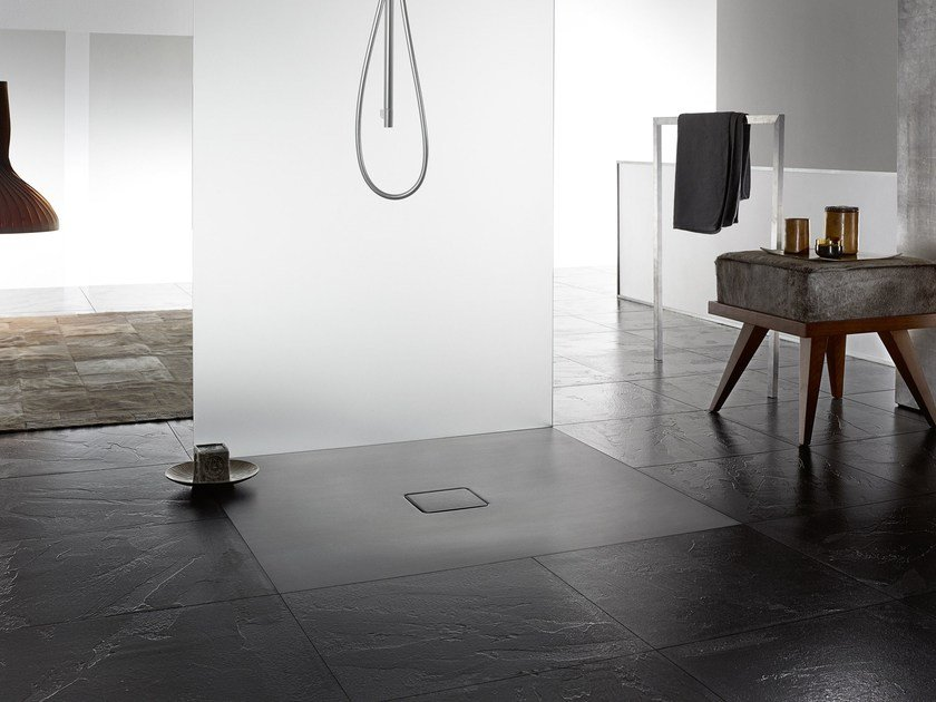 Flush fitting shower tray CONOFLAT by Kaldewei Italia