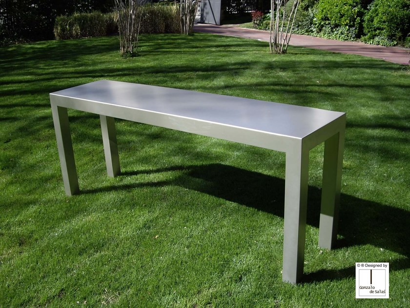 Rectangular iron console table CONSOLE 4 by Gonzalo De Salas