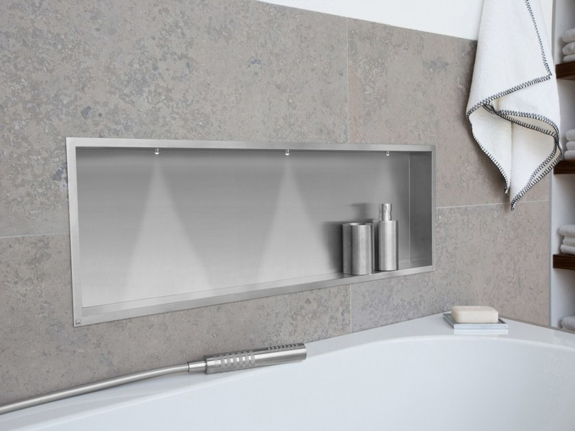 Stainless Steel Bathroom Wall Shelf CONTAINER BOX WALL NICHE WITH LED By  ESS Easy Drain