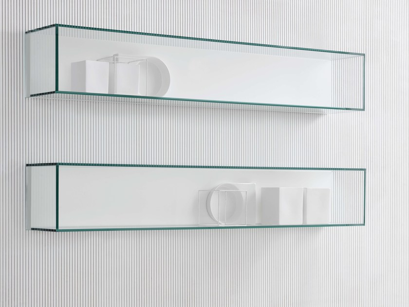 Glass wall shelf Glass wall shelf by Silenia