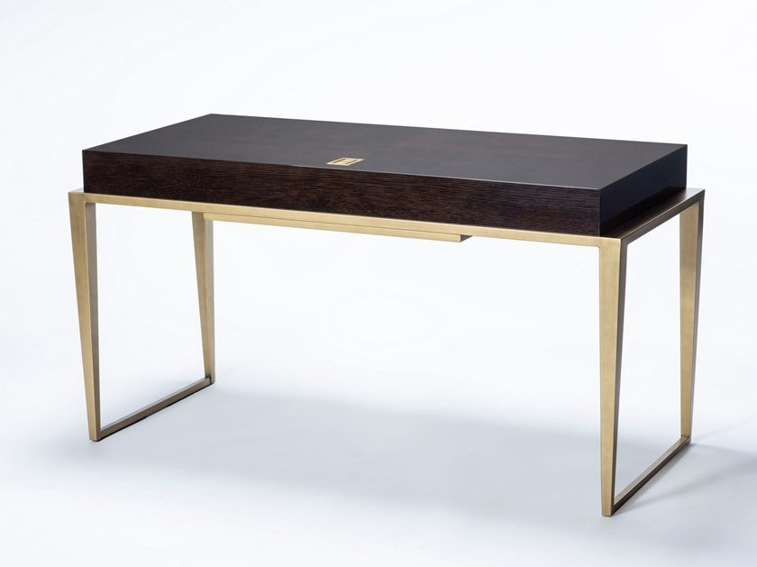 Rectangular writing desk CONTI by HUGUES CHEVALIER