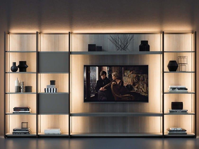 Continuum libreria con porta tv by natevo design matteo nunziati